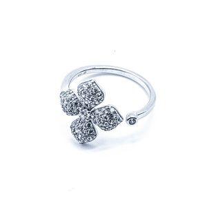 925 Sterling Silver Women's Flower Adjusta…
